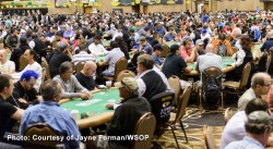 Players at World Series of Poker 2015