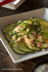Cucumber and Crab Salad at Itsy Bitsy