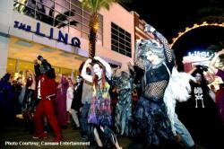 The LINQ Promenade on Halloween