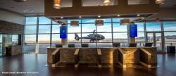 Maverick Helicopters terminal registration desk