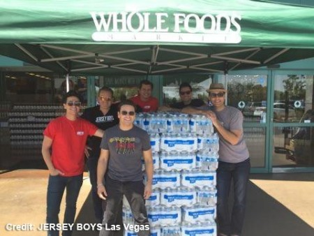 JERSEY BOYS Las Vegas Cast Members Donate 100 Cases of Water to HELP of S. Nevada HELP20 Drive