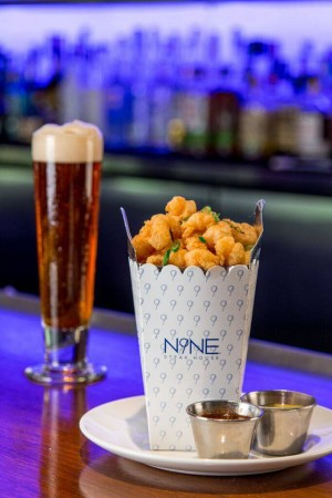N9NE Steakhouse Happy Hour Rock Shrimp