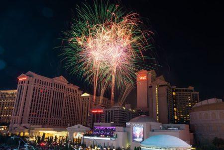 Caesars Palace fireworks