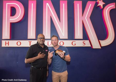 Paul Zerdin Pink's Hot Dogs