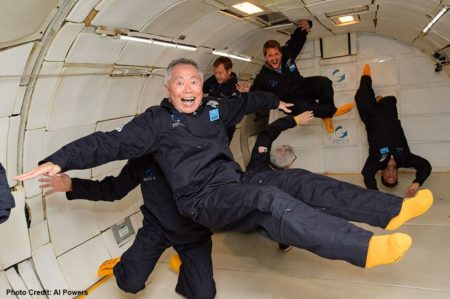 George Takei at Zero-G