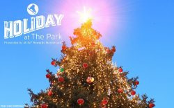 Holiday At The Park Celebrates The Season At Toshiba Plaza With First-Ever Tree Lighting Ceremony