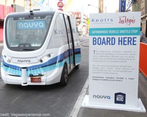First Driverless Public Transit Vehicle Being Tested In Las Vegas