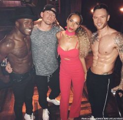 Leona Lewis Celebrates 32nd Birthday at MAGIC MIKE LIVE LAS VEGAS, April 2, 2017