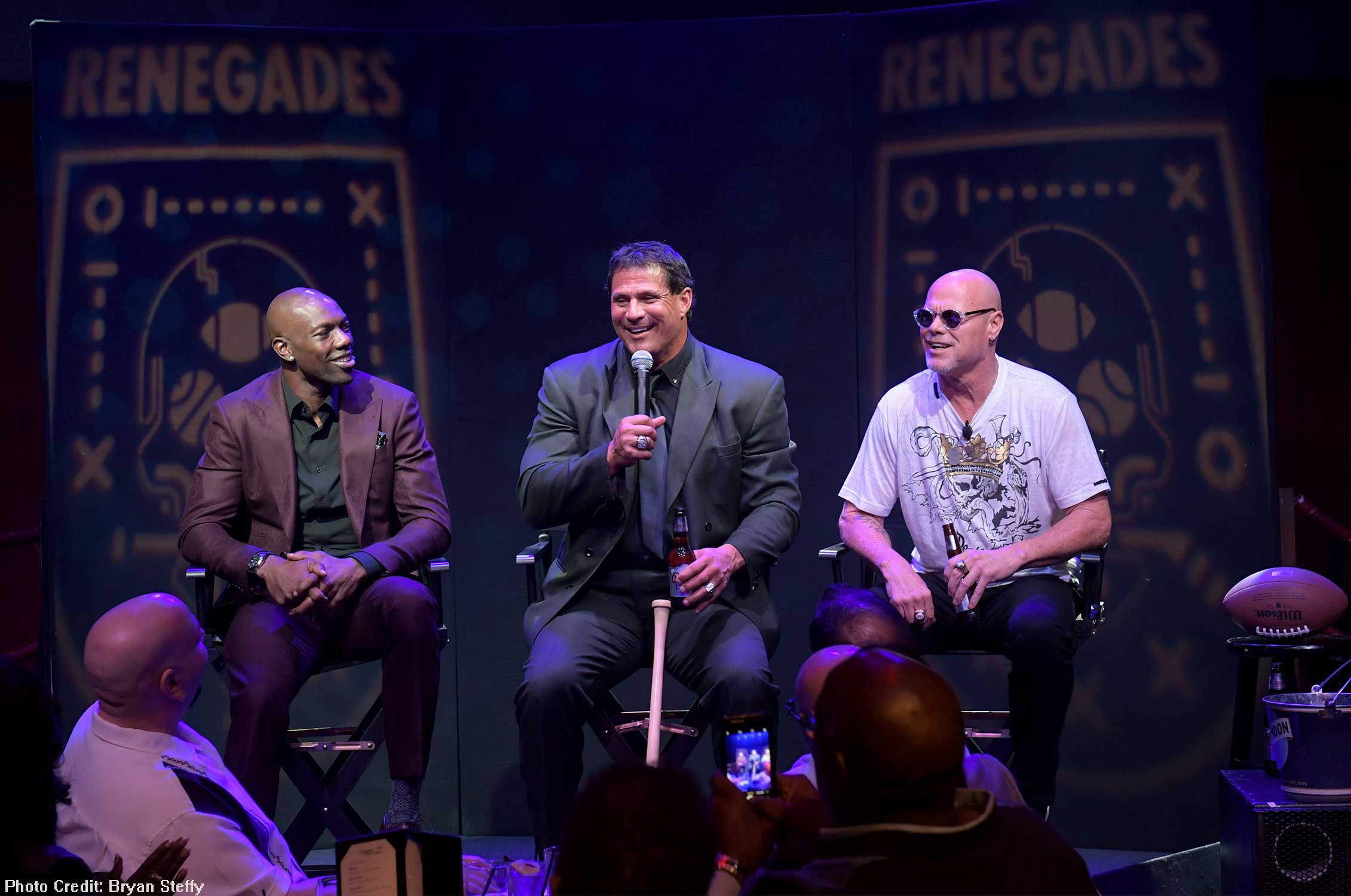 Terrell Owens, Jose Canseco and Jim McMahon celebrated the grand opening of the new show Renegades